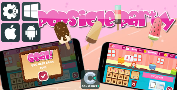 Popsicle Party - Html5 Game            Nulled