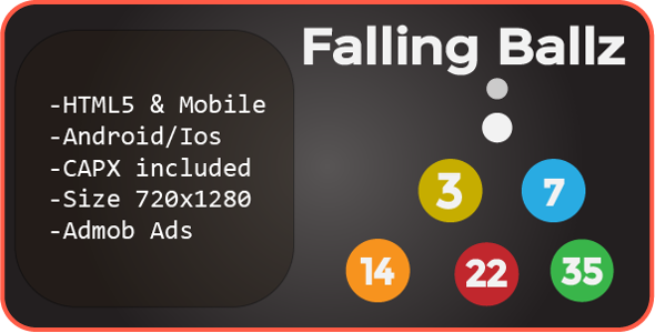 Falling Ballz (HTML5 + Mobile Version) Construct 2            Nulled