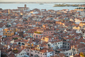Elevated view of Venice with roofs buildings and sea, Italy - PhotoDune Item for Sale