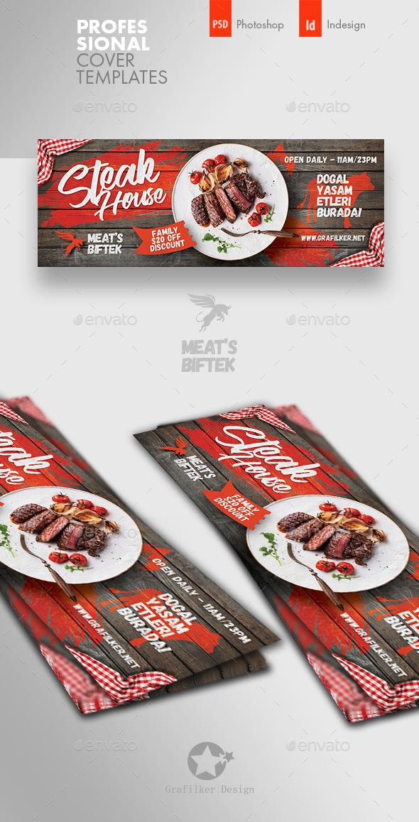 Steak House Cover Templates - Facebook Timeline Covers Social Media