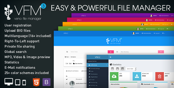 Veno File Manager - host and share files - CodeCanyon Item for Sale