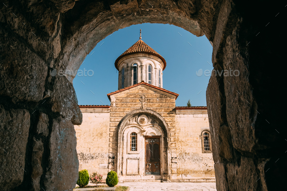 Kutaisi, Georgia. Monastery Of Motsamet Or Monastery Of Saints D - Stock Photo - Images