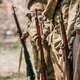 Close Up Of Re-enactors Dressed As Soviet Infantry Soldiers Of W - PhotoDune Item for Sale