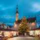 Tallinn, Estonia. Traditional Christmas Market On Town Hall Squa - PhotoDune Item for Sale
