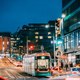 Helsinki, Finland. Tram Departs From A Stop On Kaivokatu Street - PhotoDune Item for Sale