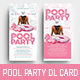 Pool Party Rack Card Template