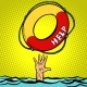 Hand Drowning Rescue Circle Help