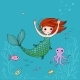 Cartoon Little Mermaid - GraphicRiver Item for Sale