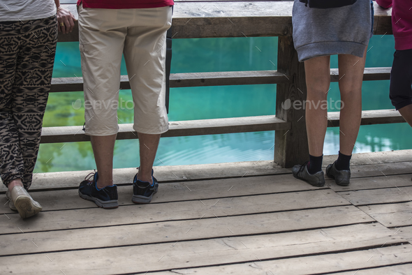 People at the lake - Stock Photo - Images