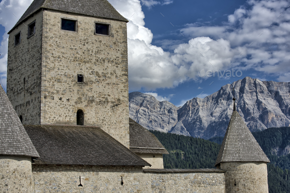Castle in the Alps - Stock Photo - Images