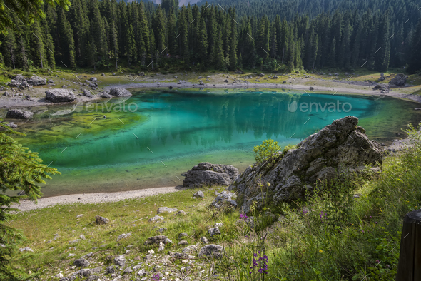 Dolomites lake - Stock Photo - Images