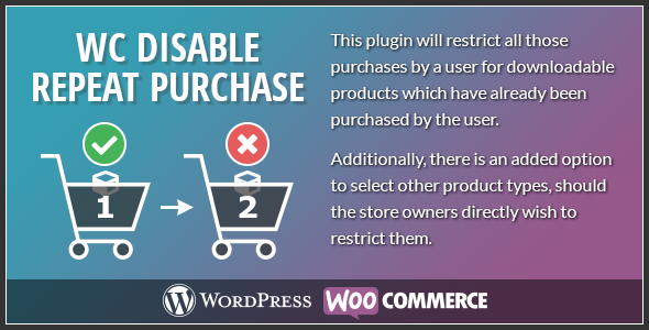 Woocommerce Disable Repeat Purchase            Nulled