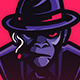 Mascot Logo Monkey Father Mafia