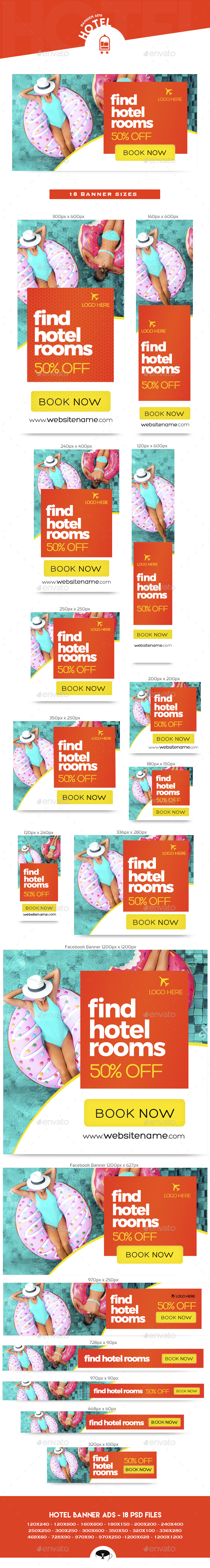 Hotel Banner Ads - Banners & Ads Web Elements
