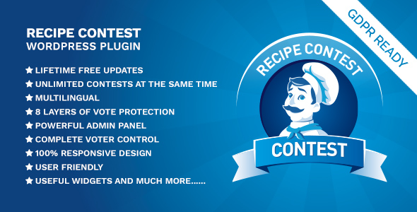 Recipe Contest WordPress Plugin            Nulled