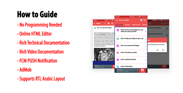 How to Guide - Native Android Multi-category Guidebook App | AdMob | FCM PUSH Notification            Nulled