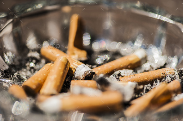 Cigarette ashtray - Stock Photo - Images
