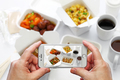 taking a photo of chinese take out food with smartphone - PhotoDune Item for Sale