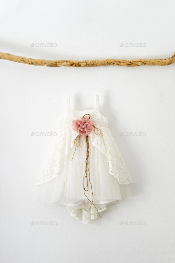 Christening baby dress - Stock Photo - Images