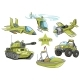 Cartoon Green Military Army Vehicles Vector Set - GraphicRiver Item for Sale
