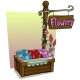 Cartoon Flowers Vendor Booth Market Wooden Stand - GraphicRiver Item for Sale