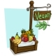 Cartoon Fruit Vendor Booth Market Wooden Stand - GraphicRiver Item for Sale