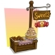 Cartoon Sweets Vendor Booth Market Wooden Stand - GraphicRiver Item for Sale