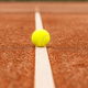 Tennis ball on white line - PhotoDune Item for Sale