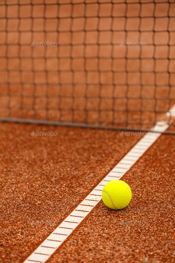 Yellow tennis ball - Stock Photo - Images