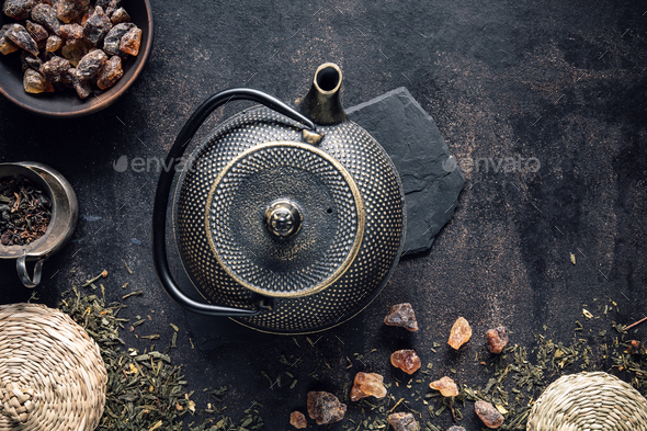 Image of traditional eastern teapot - Stock Photo - Images