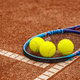 Tennis balls and racket - PhotoDune Item for Sale