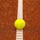 Tennis ball on the tennis court - PhotoDune Item for Sale