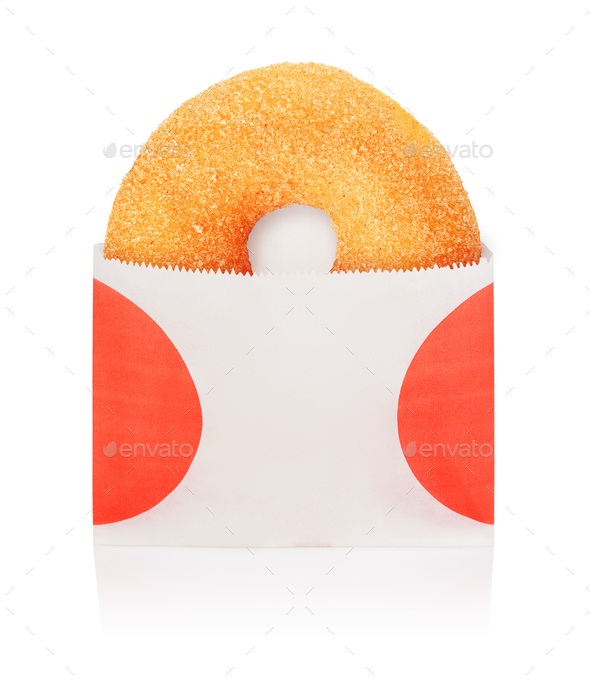 Yellow donut take out - Stock Photo - Images