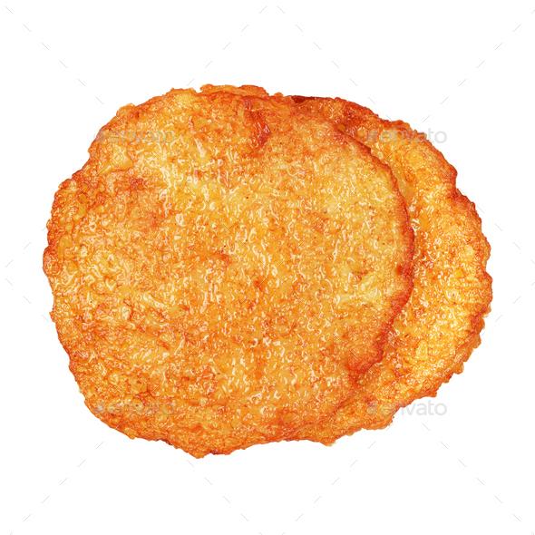 Potato pancakes isolated - Stock Photo - Images