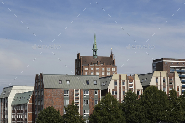 Rostock cityscape, Germany - Stock Photo - Images