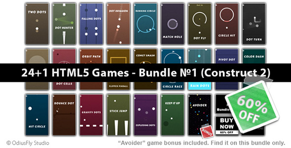24+1 HTML5 Games - Bundle №1 (Construct 2)            Nulled