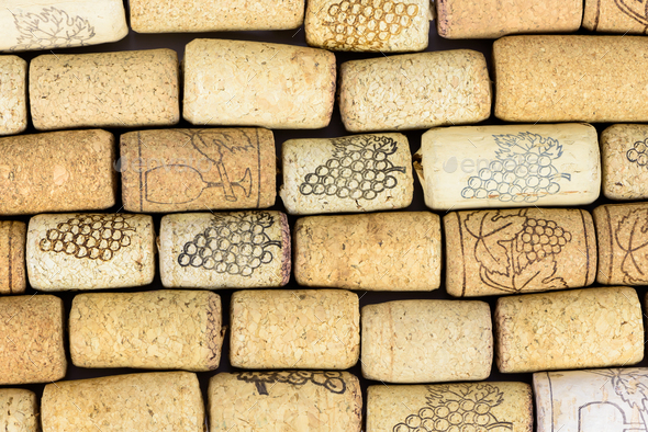 Background made of wine corks - Stock Photo - Images
