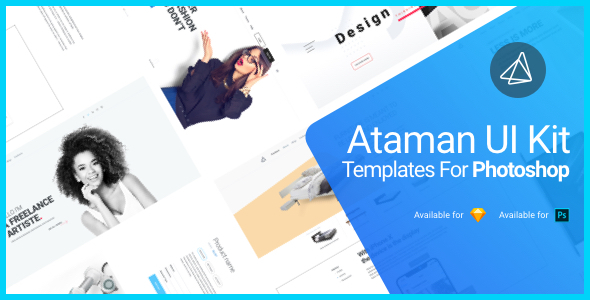 Ataman UI Kit - Templates for Photoshop - PSD Templates