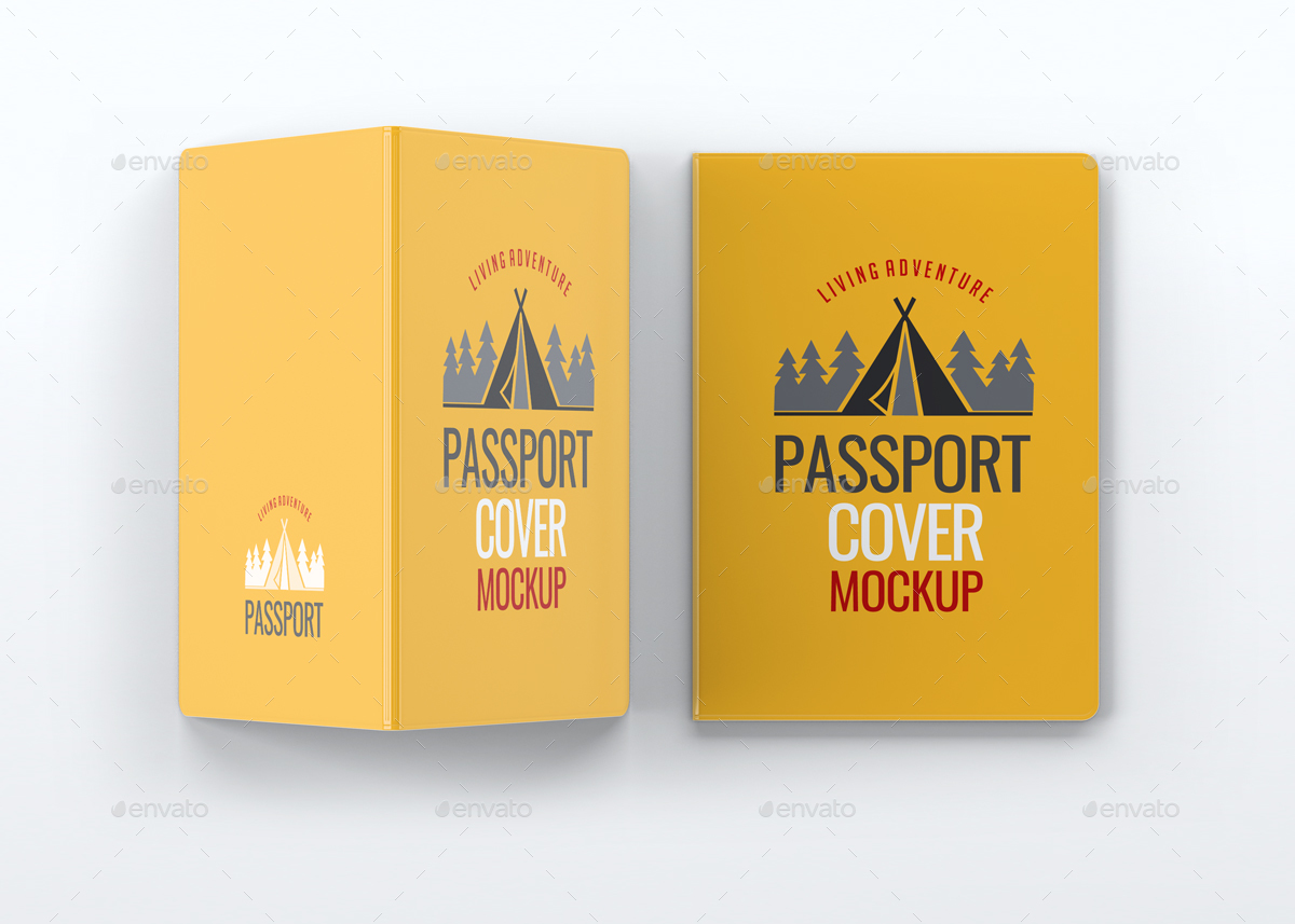 Passport Cover Mock Up By L5design Graphicriver 01 02