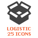 25 Logistic & Delivery Filled Icon - GraphicRiver Item for Sale