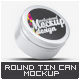 Round Tin Can Mock-Up - GraphicRiver Item for Sale