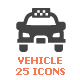 Vehicle & Transport Filled Icon - GraphicRiver Item for Sale