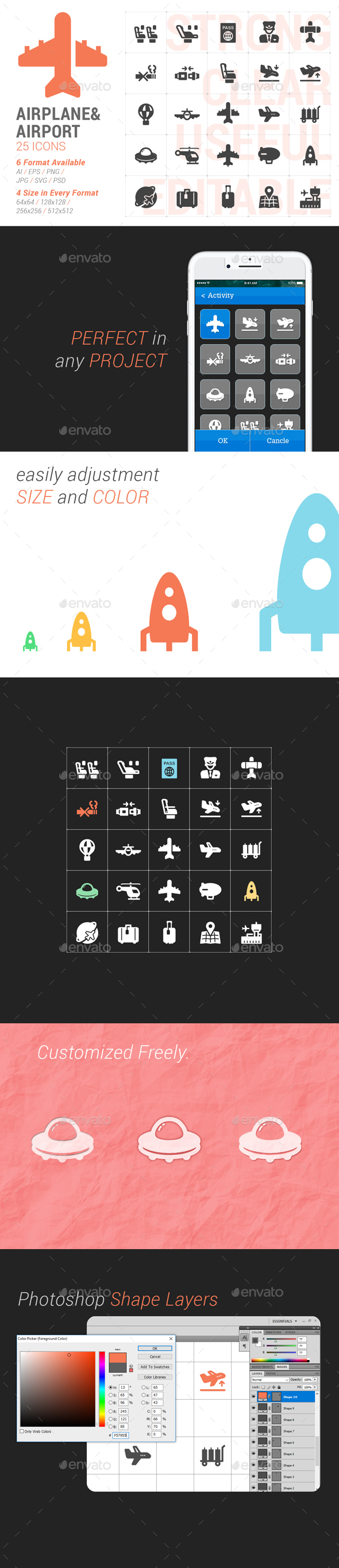 Airplane & Transport Filled Icon - Icons
