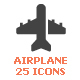 Airplane & Transport Filled Icon - GraphicRiver Item for Sale