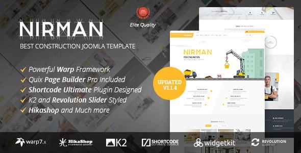 Nirman - Professional Construction Joomla Template - Business Corporate