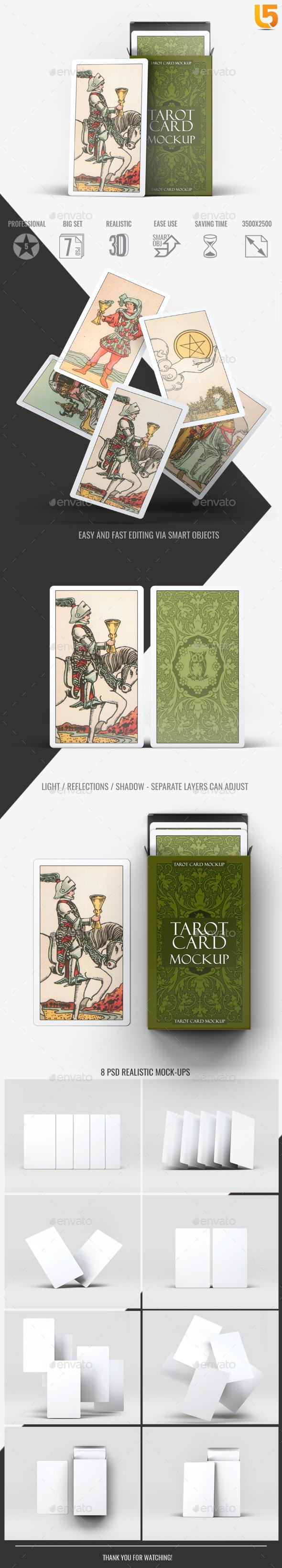 Tarot Card Mock-Up - Miscellaneous Print