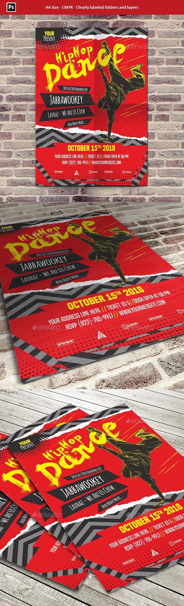 Hip Hop Dance Flyer Template - Events Flyers
