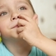 A Thoughtful Child Picks His Finger in the Nose - VideoHive Item for Sale