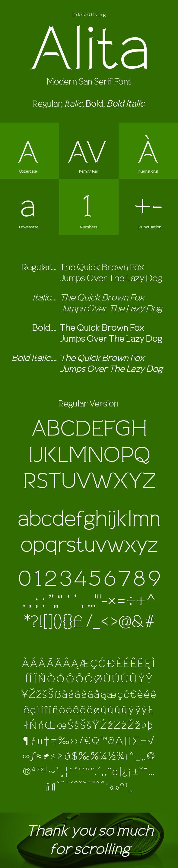 Alita Typeface - Sans-Serif Fonts