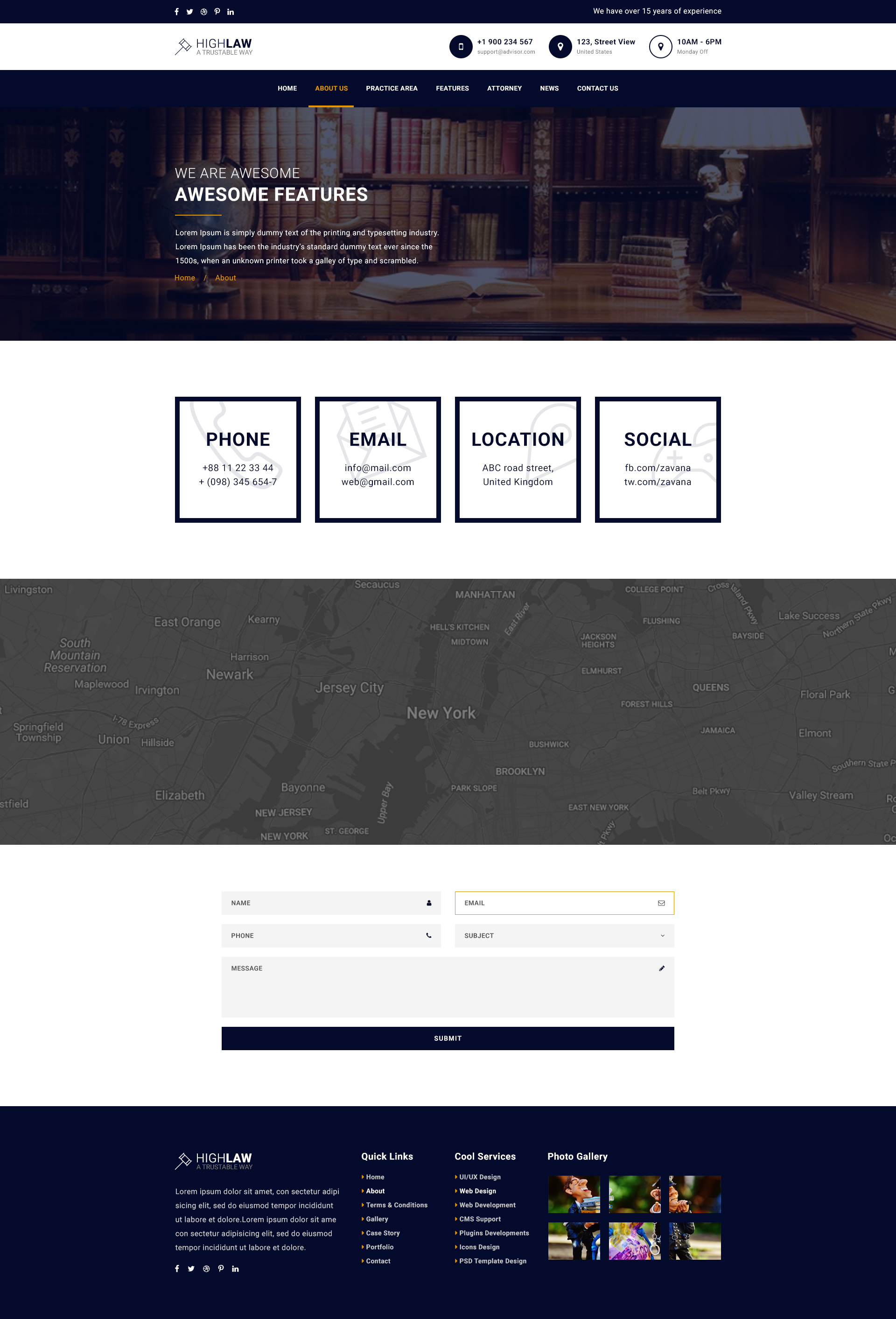 HighLaw Law Firm - Attorney HTML5 Templates by BrothersCluB ...